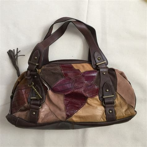 Fossil Patchwork Purse - 70 fossil handbags fossil leather patchwork boho