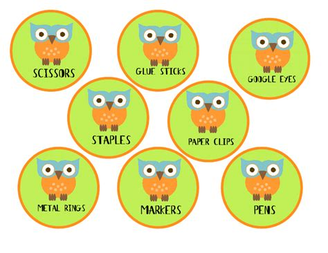 owl printables for classroom teach it with class free owl labels