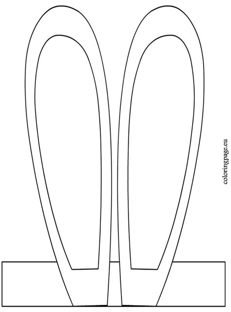 easter bunny ears headband template bunny headband coloring page