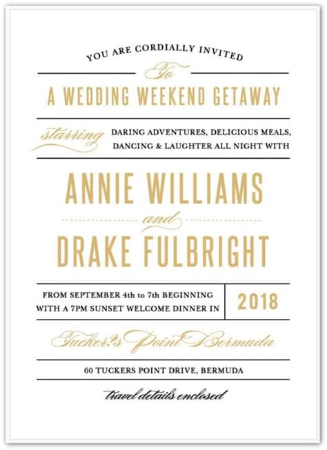 Wedding Welcome Invitation Wording