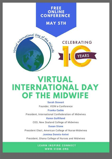 vidm  conference poster virtual international day   midwife