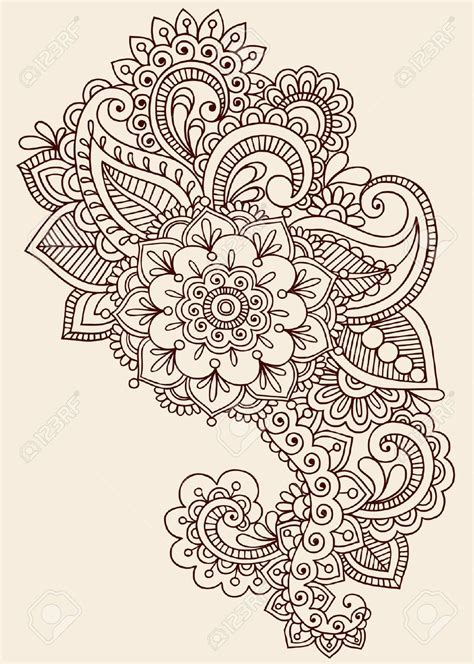 henna tattoo patterns free henna paisley flowers mehndi doodles design