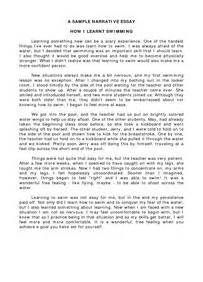 Swimming Essay by Avanzado2eoi An Essay