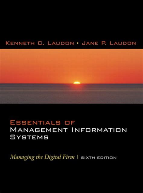 Management Information System Eigth Edition laudon laudon essentials of business information systems pearson