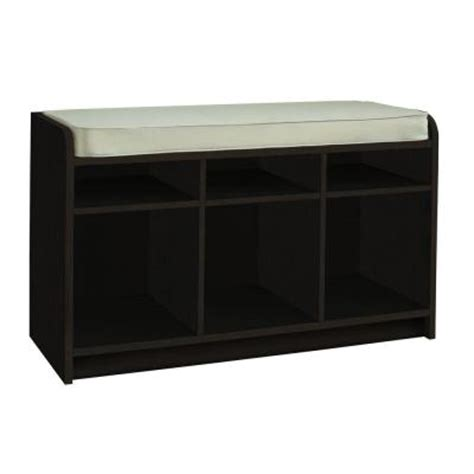 outdoor storage bench home depot martha stewart living 35 in x 21 in espresso storage