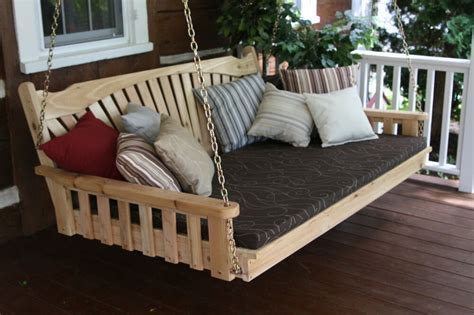 outdoor  foot fanback swing bed unfinished pine