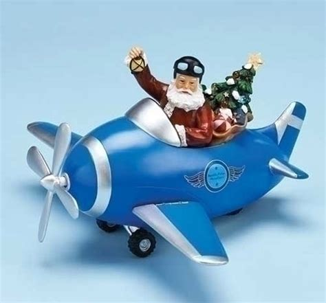 santa airplane musical airplane christmas aviation