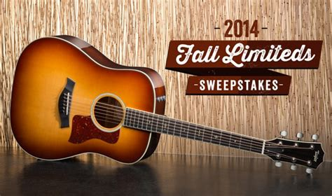 Guitar Sweepstakes 2014 - taylor guitars announces the 2014 fall limiteds sweepstakes taylor guitars