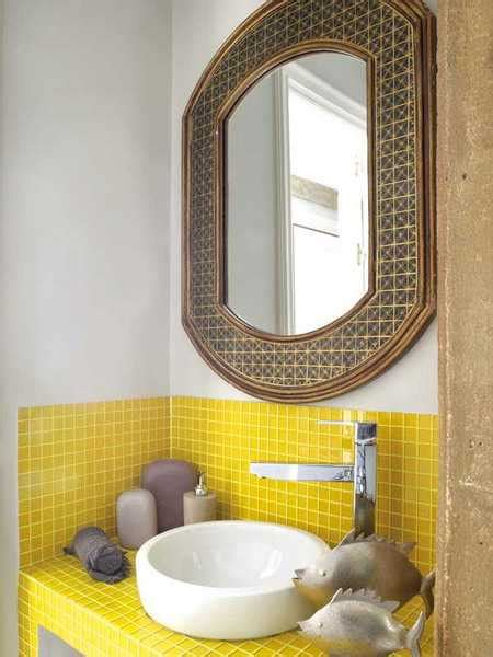 25 modern bathroom ideas adding yellow accents to