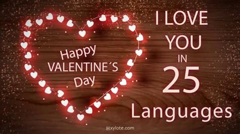 translate happy valentines day to happy valentines day i you in 25 different languages