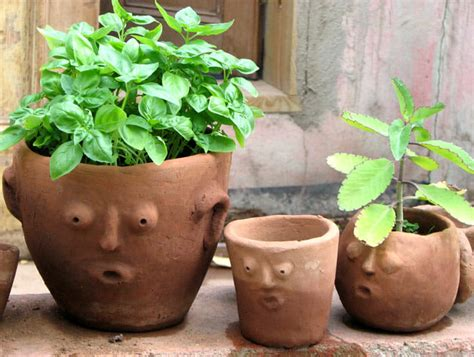 Handmade Terracotta Pots - gardens for