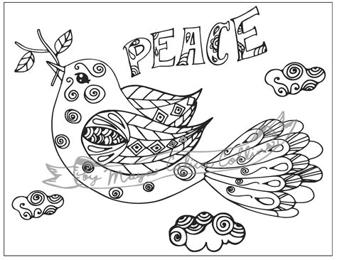 Peace Dove Coloring Page by Dove Sign Of Peace Printable Paper Crane Coloring Pages