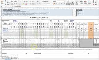 Excel Template For Timesheet by Excel Timesheet Template With Formulas Template Design