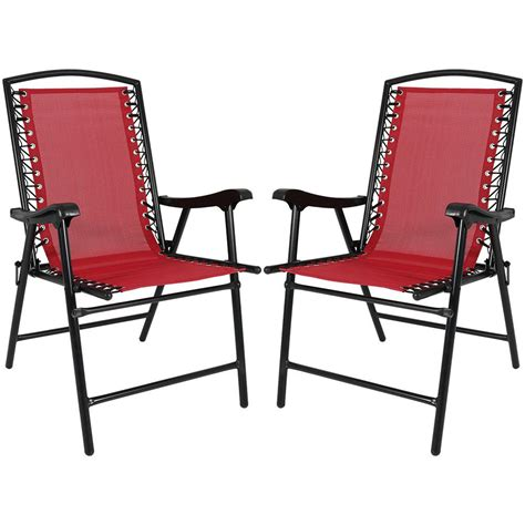 Sling Folding Chairs by Sunnydaze Decor Sling Folding Lawn Chairs Set