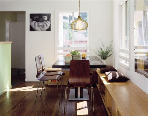 dining room tables with bench seating built in bench dining table dining room modern with wall