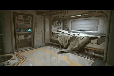 Spaceship Bedroom | sci fi bedroom