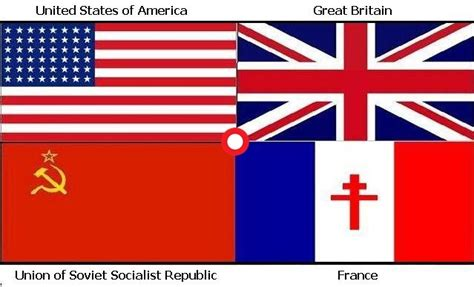 flags of the world during ww2 allied powers was united states great britain france a