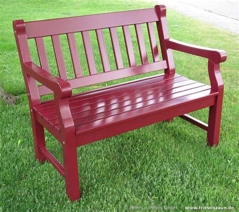 red patio bench wooden garden benches and garden furniture painted white