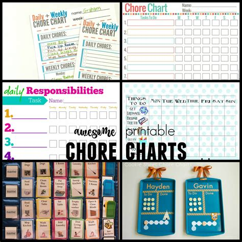 free charts remodelaholic 36 free printable organizers for a
