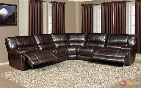 dark brown leather sectional couch parker living pegasus casual dark brown modular power