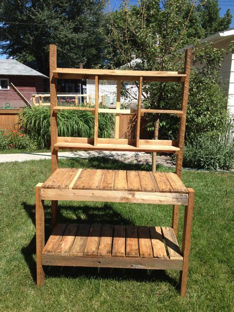 pallet garden work bench recycled garden potting bench recycled garden pictures