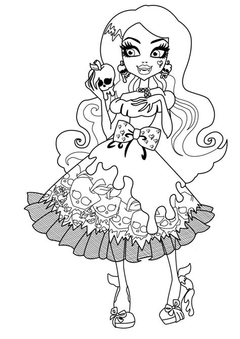 monster high coloring pages you can print free printable monster high coloring pages for kids