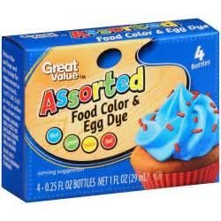 where is food coloring in walmart great value assorted food color egg dye 1 oz walmart