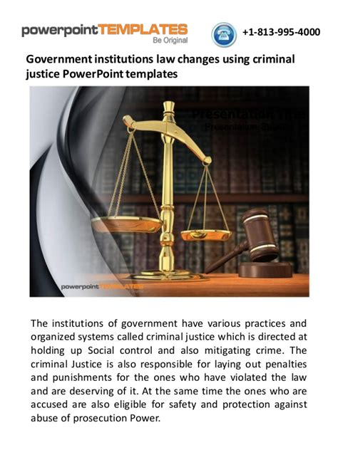 Government Institutions Law Changes Using Criminal Justice Powerpoint Criminal Justice Powerpoint Templates