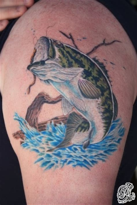 largemouth bass tattoo eric mos eisleys