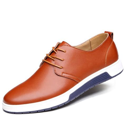 mens light oxford shoes color casual lace up style oxford shoes