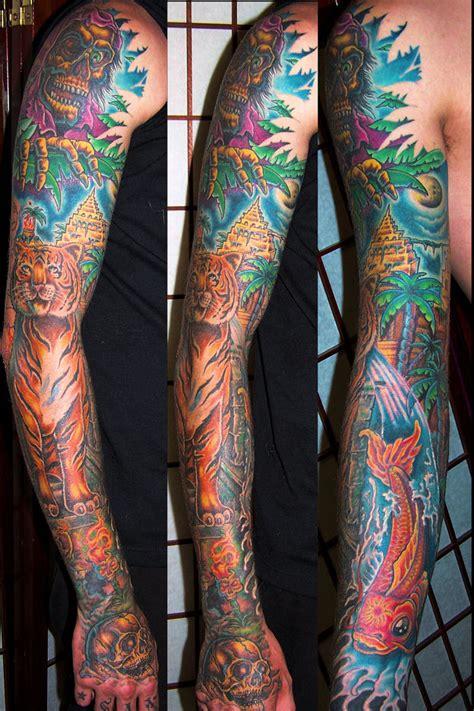 jungle theme arm tattoo tattoomagz tattoo designs