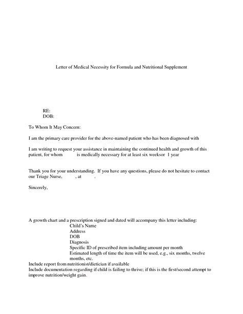 Insurance Letter Of Necessity Letters Necessity Letter And Appeal Letter Template For Necessity Word Format