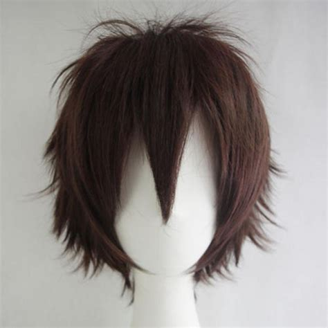 unisex male female straight short hair wig cosplay party unisex men women straight short hair wig cosplay party