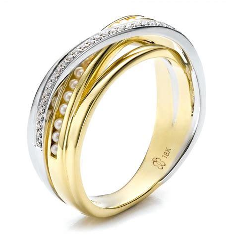 custom s pearl and wedding band 100011