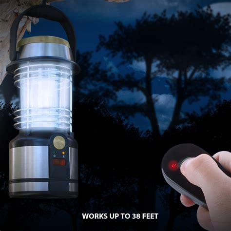 Lu Emrgency Remot Tg635r battery powered lantern w remote 12 led lights fold out hanging clip ebay
