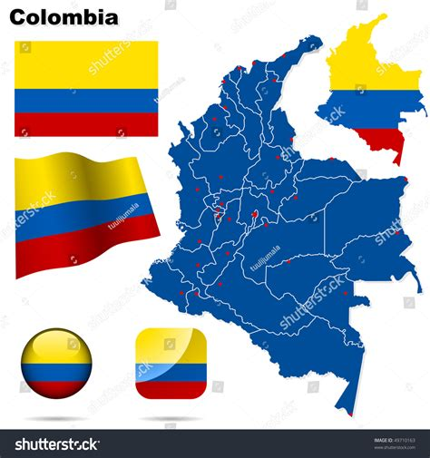colombia vector map colombia vector set detailed country shape with region