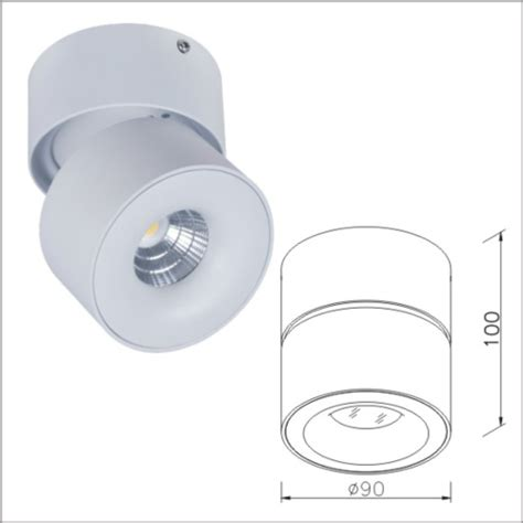 led light fixtures swivel tilt adjustable spotlight