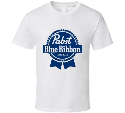 new pabst blue ribbon logo white standard t shirt