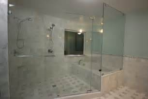 glass enclosed shower and tub interior exterior doors