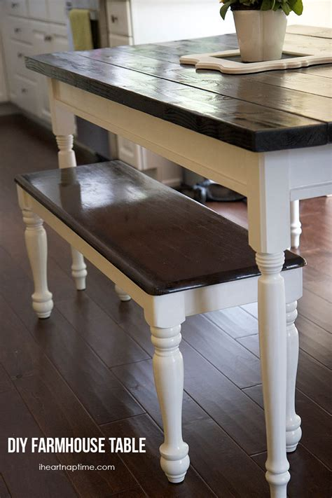 how to build a farmhouse table and bench diy farmhouse kitchen table i heart nap time