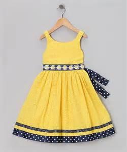 yellow amp navy eyelet daisy dress infant
