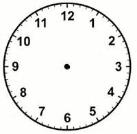 blank telling time worksheet