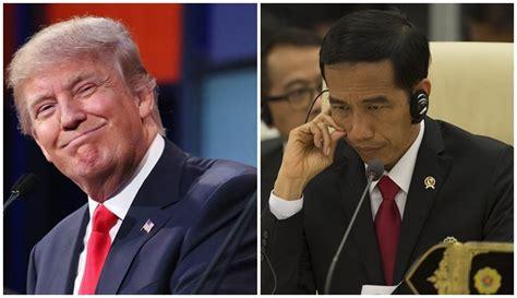 donald trump vs jokowi ini isi percakapan saat jokowi telepon donald trump oleh