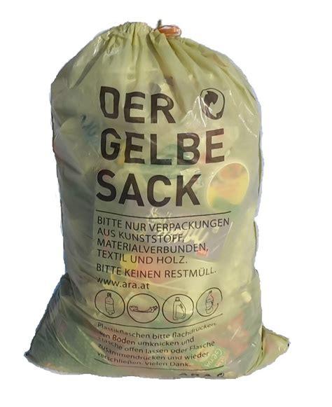wann werden gelbe säcke abgeholt gelbesack gemeinde dienstleistungsverband region amstetten