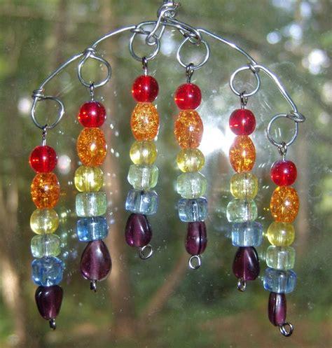 glass bead suncatchers crafts aphroditesattique craft cafe small rainbow suncatcher
