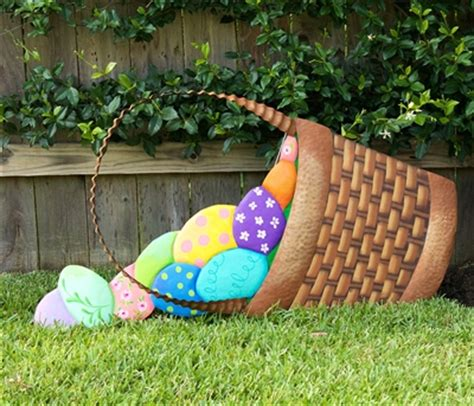 Easter Backyard Decorations by Large Easter Basket Yard Decoration