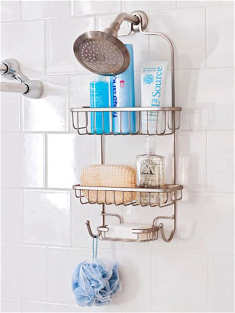 Shower Rack Hanging by Smart Bathroom Organization 171 Saybrook Homes