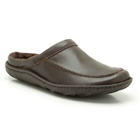 top mens slippers clarks mens kite vasa brown leather slippers available at
