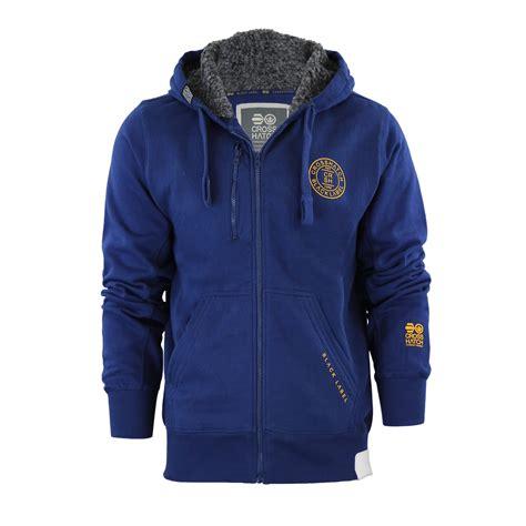Fleece Lined Zip Hoodie mens hoodie crosshatch grabble borge fleece lined zip