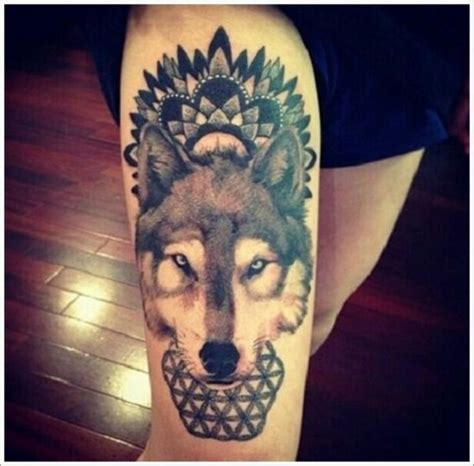 mandala animal tattoo tumblr 20 excelentes ideas de tatuajes de lobos